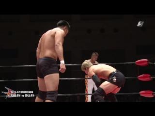 Kazuki Hashimoto, Takumi Tsukamoto vs. Kota Sekifuda, Yuya Aoki (BJW - Death Mania 5)