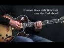 C Minor Jazz Blues Easy Jazz Guitar Lesson by Achim Kohl