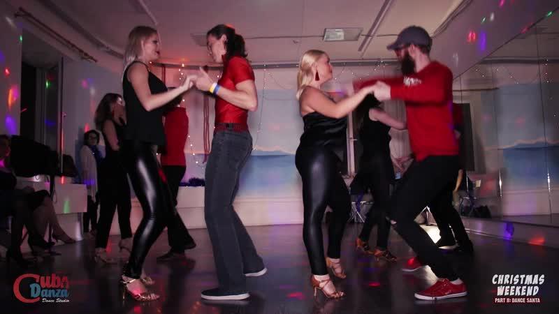 BACHATA show german group CubaDanza Christmas Weekend