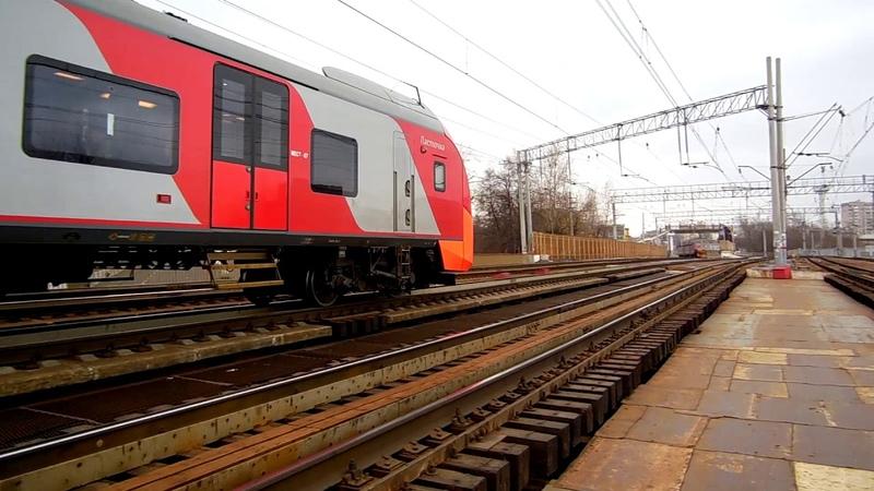 Электропоезд ЭС1-026020 Ласточка (ТЧ-96) скоростной поезд № 730Г, Москва - Нижний Новгород.