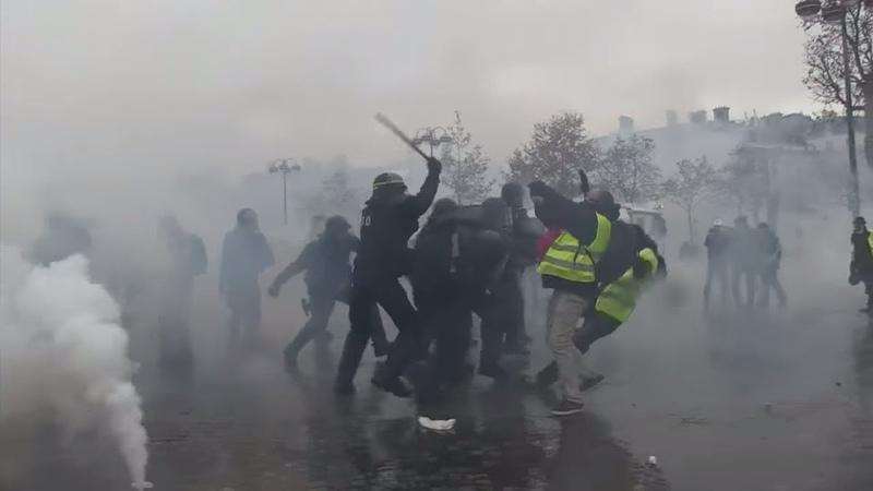 PARIS: Erneut Krawalle bei «Gelbwesten»-Protest an Champs-Élysées