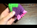 3д оригами - роза. How to make 3D origami a Wonderful Flower Thistle Tutorial