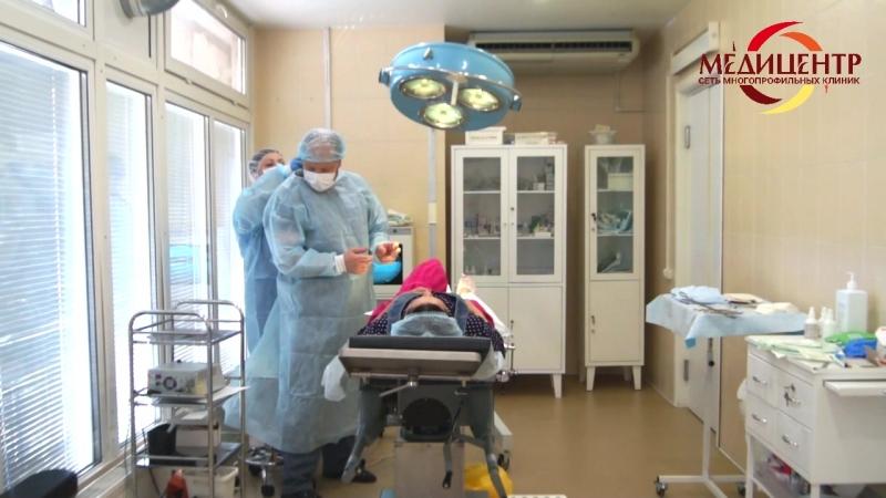 Удаление гигромы в клинике Медицентр (хирург Львов В.Ю.)