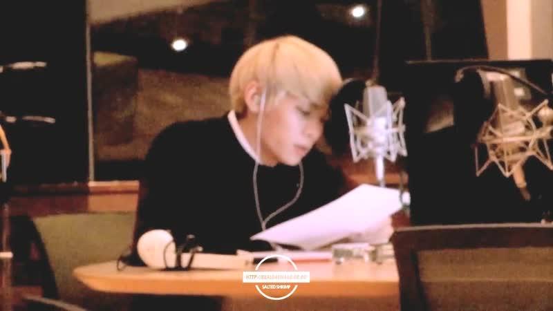 141121 SHINee Jonghyun 쫑디 오늘 방백 @ MBC 푸른밤 종현입니다 가든스튜디오