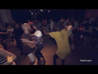 Salsa social dance threesome irina samuel tamba