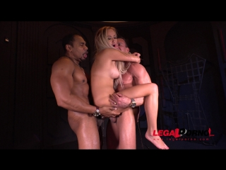 Submissive busty blonde lara onyx double penetrated to the xxxtreme gp083 ()