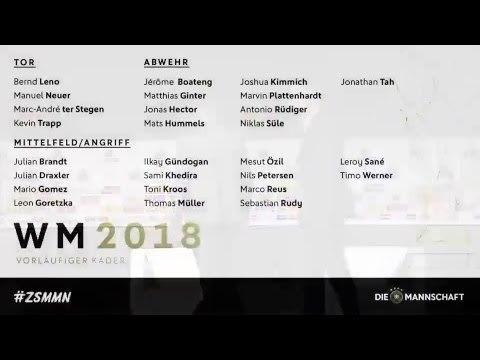 🔥🇩🇪🏆 Joachim Löw nominiert den vorläufigen WM Kader ➡ Jetzt LIVE