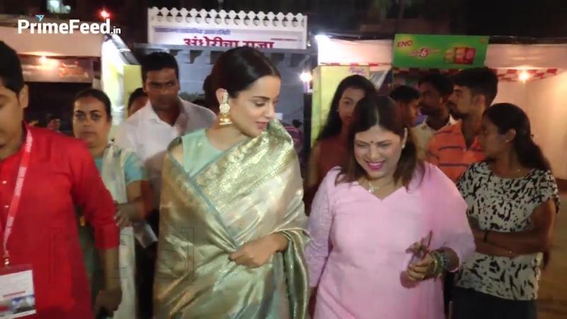 Kangana Ranaut Takes Blessing From Andheri Cha Raja 2018
