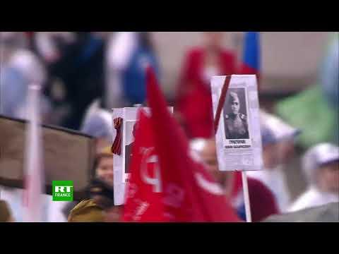 9 mai le Régiment immortel défile à Moscou