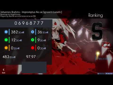 Osu! | Azerite | Johannes Brahms - Impromptus No.18 [ignore's Lunatic] HD,DT 97.97% FC 360pp 1
