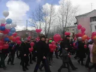 Первомайская демонстрация в Полевском
