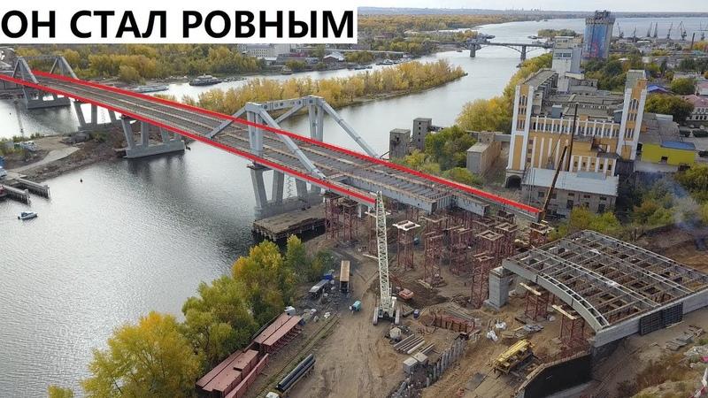 Фрунзенский мост завершена надвижка пролетного строения 4k