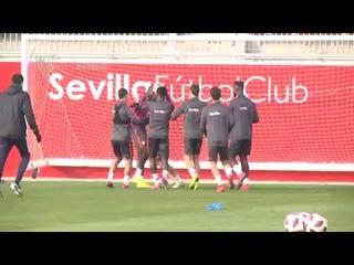 El Sevilla FC prepara los dos duelos de esta semana