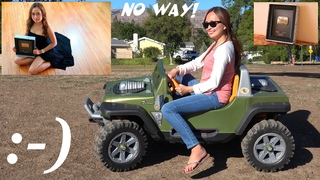 Mom Driving a Fisher-Price Ride-On Power Wheels Playground Playtime with Kids