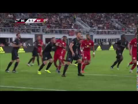 Wayne Rooney red card piros lap DC United New York Red Bulls 0 1