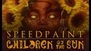 [speedpaint] paint tool sai - CHILDREN OF THE SUN (Dead Can Dance Inspired)