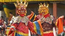 Cham Dance at Paro Tsechu Festival - Bhutan