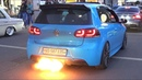 VW Golf R Mk6 with Turbo ANTI-LAG at Wörthersee 2019! - FLAMES LOUD BANGS!