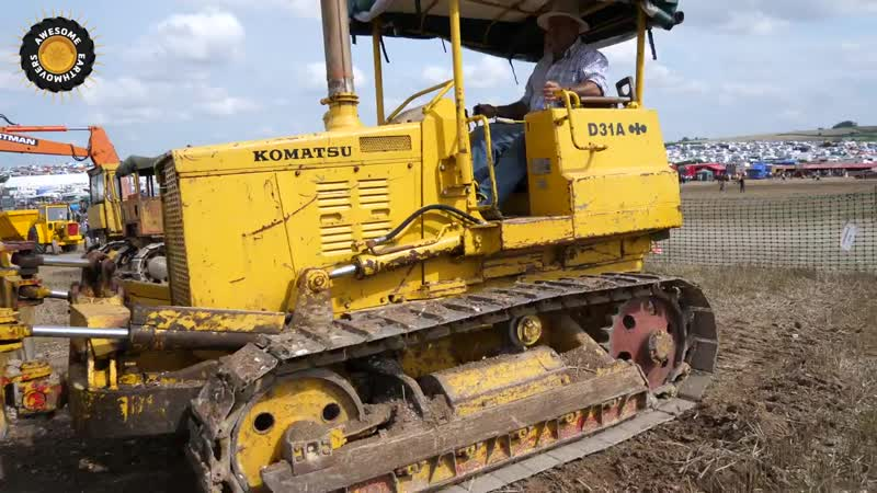 Komatsu D31A bulldozer working at the Great Dorset steam fair
