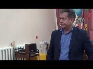 Николай Платошкин на встрече в школе с рабочим коллективом, Хабаровск