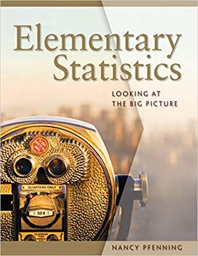 Elementary Statistics Looking at the Big Picture by Nancy Pfenning