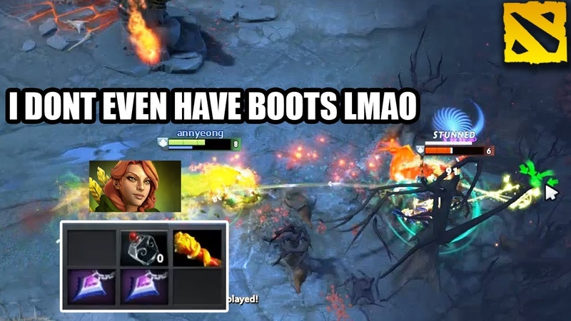 That's why this Windranger is top immortal and you're not. First Item MKB