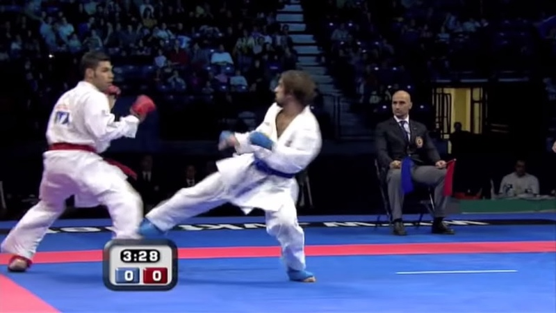 Rafael Aghayev vs Luigi Busa WKF Karate Male Kumite Final 75kg Belgrade 2010