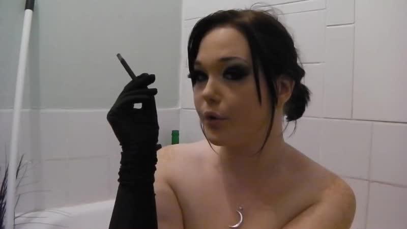 Princess Fetish Doll smoking fetish in bath