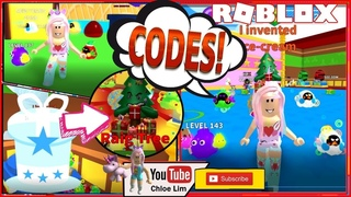 🍦 Roblox ICE CREAM SIMULATOR! 13 New Codes! Buying a new hat from New Years Area! LOUD WARNING!