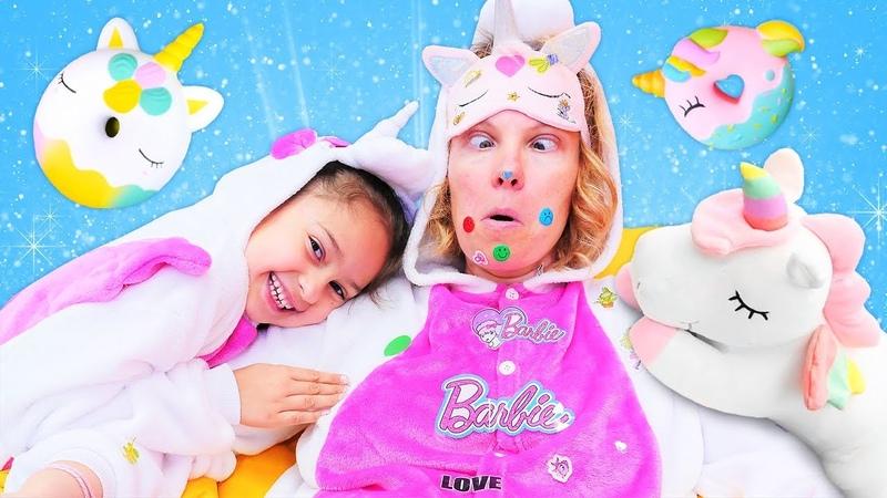 Игры для детей с милым единорогом. Маникюр для девочек с наклейками.