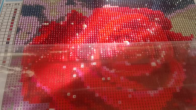 Мои работы Алмазная мозаика Роза