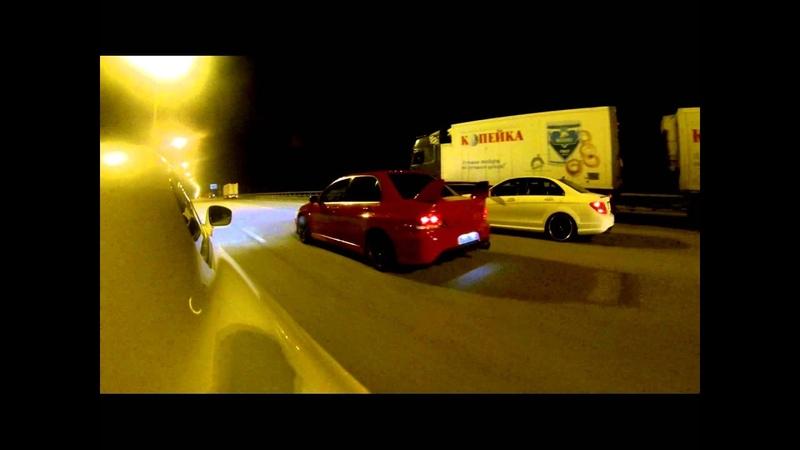 Nissan GT-R stock vs C63 MKB vs Evo IX GTX3076