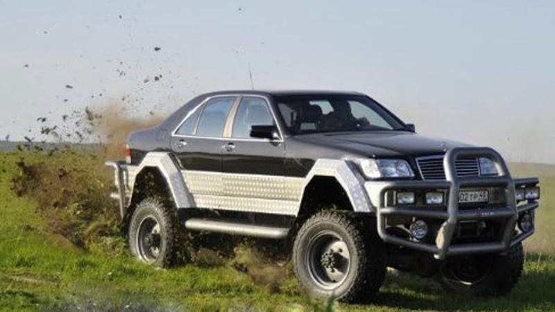World's Craziest Mercedes Benz S500 W140 Off Road 4x4 Luxury Truck Build Project