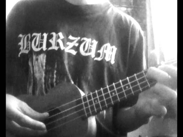 Lifelover svart galla ukulele cover