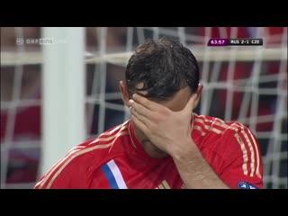 (hd) россия 4-1 чехия / uefa euro 2012 / russia vs czech republic