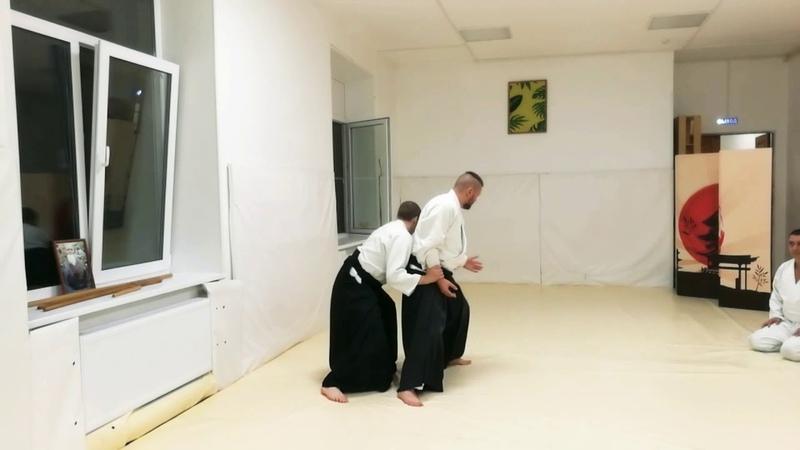 Aikido ushiro ryote dori training