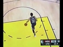 Steph Curry drains the one-handed half court heave after the whistle and Kirby (S01E18)