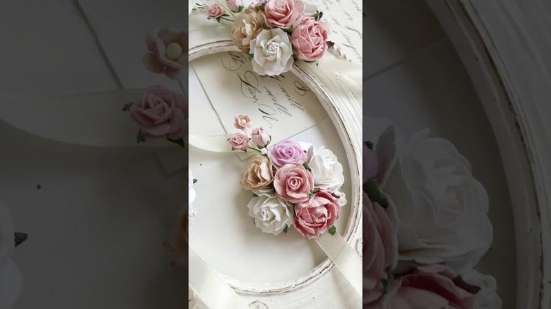 Розовые браслеты для подружек невесты