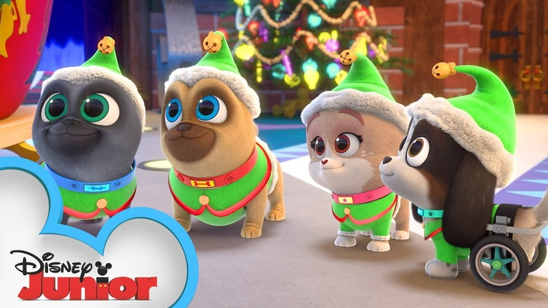 Merry Christmas from Bingo Rolly and Keia 🎁 Puppy Dog Pals Disney Junior