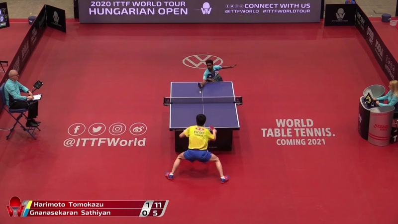 Tomokazu Harimoto vs Gnanasekaran Sathiyan 2020 ITTF Hungarian Open Highlights R16