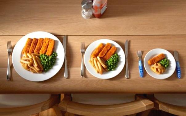 Дорогие друзья! У кого еще продолжаются праздничные застолья, не забывайте использовать тарелки с небольшим диаметром, если не хотите набрать лишние килограммы Большие тарелки - большие порции.
