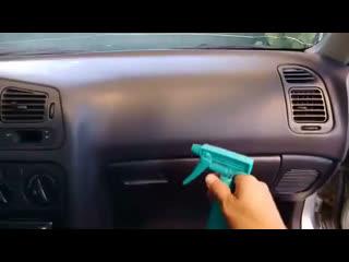 Дешёвая очистка пластика в салоне авто