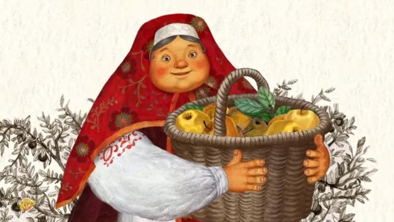 Колобок Симбирская сказка мультфильм Россия рассказы для детей моральные истории Kolobok