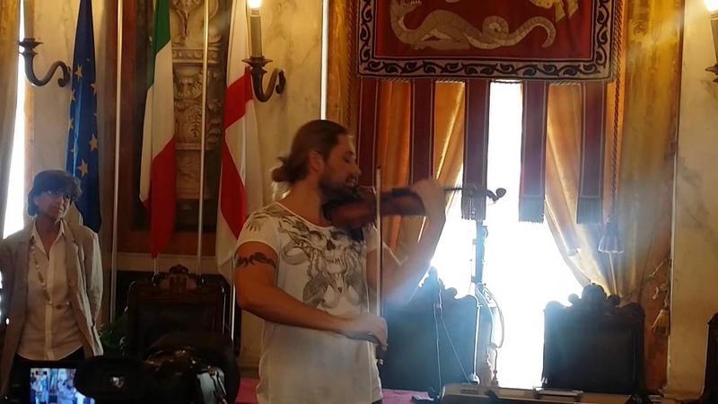 David Garret con violino Paganini