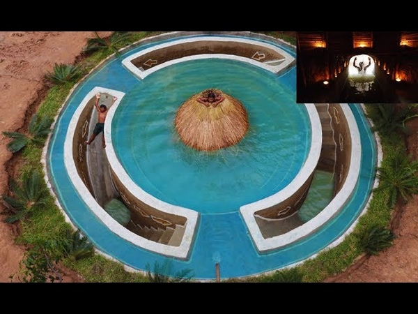 Build Most Awesome Underground Secret House Under Swimming Pool Deep In Jungle Full Video