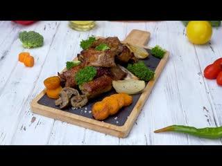 Как запечь ребрышки(Рецепт под видео)  Больше рецептов в группе Кулинарные Рецепты