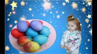 Lears Colors Красим яйца за 1 минуту Учим цвета с английской песенкой Super Sisters