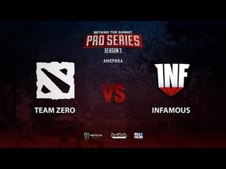 Team Zero vs Infamous, BTS Pro Series Season 3: Americas, bo2, game 1 [Smile & Eiritel]