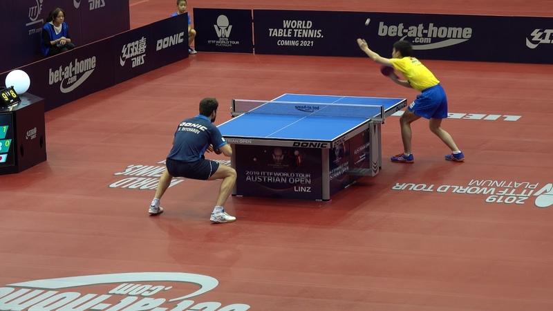 HARIMOTO Tomokazu vs Dimitrij Ovtcharov R16 2019 Austrian Open HD Full Match Best Angle