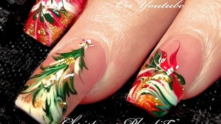 No Water Needed | 3 Different Christmas Drag Marble Nail Art Designs!